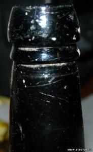Бутылка с синего стекла с короной - 0213881.jpg