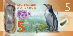 На реверсе пингвин. - новая зеландия 5 долларов..jpg