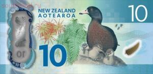 На реверсе изображена новозеландская горная утка с утятами. - новая зеландия 10 долларов..jpg
