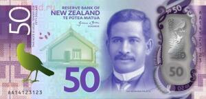 Аверс 50 долларов украшает портрет Сэра Апирана Турупа Нгата Sir Apirana Turupa Ngata известного новозеландского политика и юриста. - новая зеландия 50 долларов.jpg