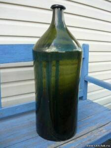 Двухведёрная бутыль зеленого стекла - 4501710.jpg