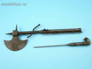 Индийский боевой топор стилет фитильный пистолет середины 18 века - 87.jpg