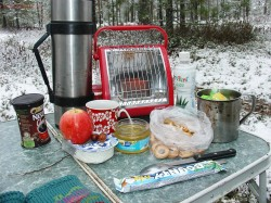 Завтрак у комина в заснеженном лесу... - Завтрак в заснеженном лесу.jpg