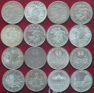 Серебро: 5 марок ФРГ. 20 монет без повторов. - 1.JPG