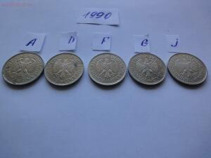 Подборка 1 марка ФРГ, 1990 г., Все монетные дворы до 26.02 - 1990 а.JPG