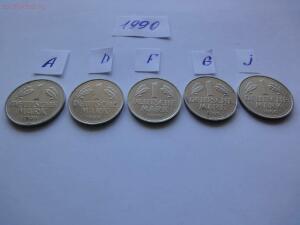 Подборка 1 марка ФРГ, 1990 г., Все монетные дворы до 26.02 - 1990 р.JPG