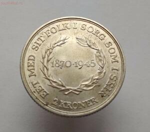 Дания 2 кроны 1945 год 75 лет со дня рождения Короля Кристиана X - IMG_20171020_122731.jpg