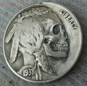 Резные монеты или Buffalo nickel - skullnickel04.jpg