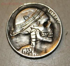 Резные монеты или Buffalo nickel - skullnickel05.jpg