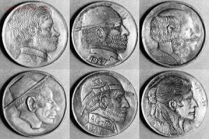 Резные монеты или Buffalo nickel - skullnickel07.jpg