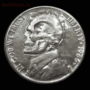 Резные монеты или Buffalo nickel - skullnickel02.jpg