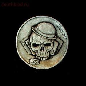 Резные монеты или Buffalo nickel - skullnickel03.jpg