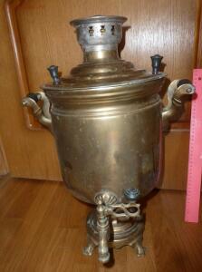 Угольный тульский самовар для чаепития  - P1570798.JPG