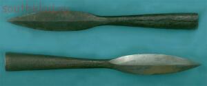 Среди раннесредневековых военных древностей наконечник копья - wKrAJGUgWUY.jpg