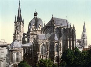 Легенды в монетах - Aachen_Dom_um_1900.jpg