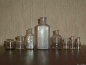 Аптечная посуда белого прозрачного стекла. - 0051168.jpg
