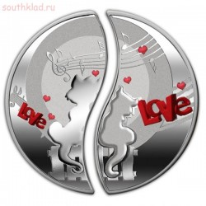 Необычные монеты - Влюбленные кошки.jpg