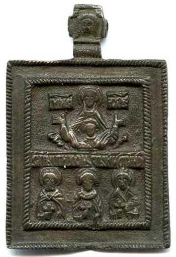 Богоматерь Знамение. Избранные святые