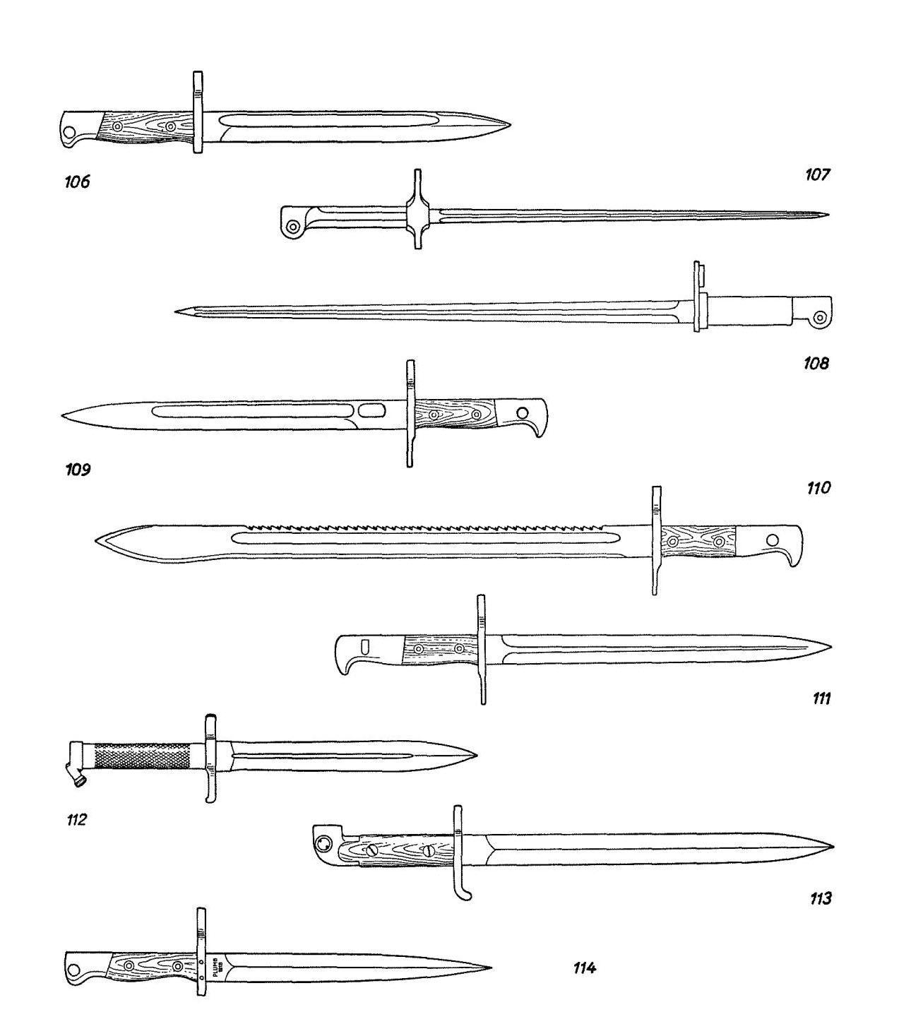 Штыки к магазинным винтовкам (продолжение)