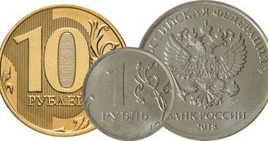 Цены на монеты 2018 года