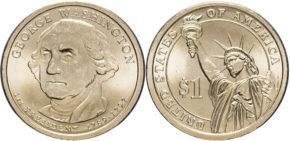 1 доллар 2007 года Джордж Вашингтон
