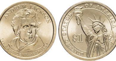 1 доллар 2008 года Эндрю Джексон