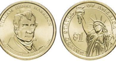 1 доллар 2009 года Уильям Генри Гаррисон