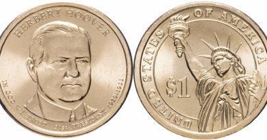 1 доллар 2014 года Герберт Гувер