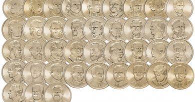 1 доллар Президенты США