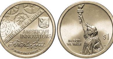 1 доллар 2018 года Первый патент