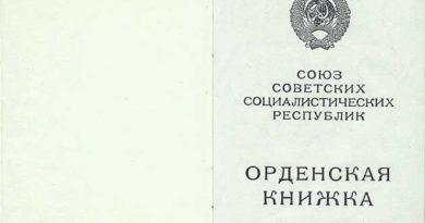Орденская книжка Тип 6