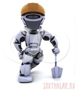 Наши лопаты. - 209720-Royalty-Free-RF-Clipart-Illustration-Of-A-3d-Silver-Robot-Wearing-A-Hard-Hat-And-Leaning-On-A-Shovel.jpg
