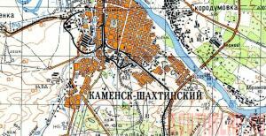 Каменск-шахтинский неизвестная война  - Каменск-Шахтинский на карте 1969 года.jpg