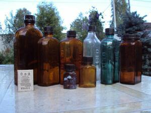 Аптечная посуда коричневого стекла - 2932660.jpg