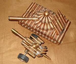 Поделки из патронов и гильз - пушка из гильз.ююjpg.jpg