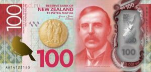 На реверсе Сэр Эрнест Резерфорд Ernest Rutherford британский физик новозеландского происхождения. Известен как «отец» ядерной физики. - новая зеландия 100 долларов.jpg