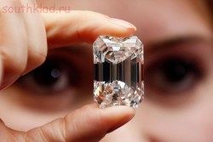 13 Самых дорогих бриллиантов - Белый бриллиант в изумрудной огранке фото.jpg