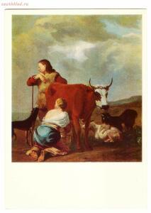 Псковская картинная галерея - 1770-е, доение коровы.jpg