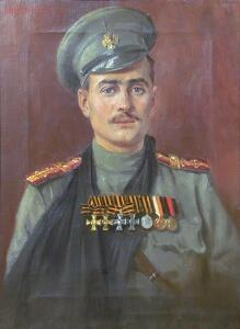 Статут ордена Святого Георгия - Портрет подпрапорщика л-гв. 4-го стрелкового полка Григория Куркина.jpg