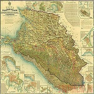 Карта Кубанской области и близких к ней Черноморской губернии и Сухумского округа. - kuban-area.jpg