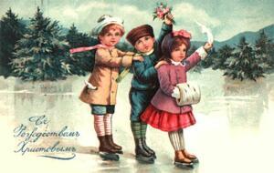 Новогодние и Рождественские открыты Российской Империи - 763d56ccb327f64ff7bb0d157e296cc1.jpg