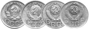 Изменения-подтипа-аверса-в-1935,-1937,-1948-и-1957-гг.