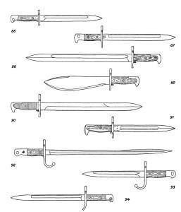 Штыки к магазинным и самозарядным винтовкам