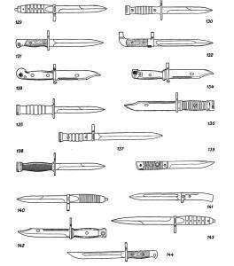 Штыки к пистолетам-пулеметам, автоматам (штурмовым винтовкам
