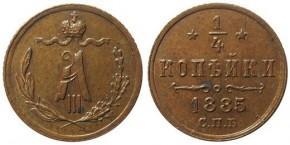 0,25 КОПЕЕК 1885