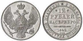 12 РУБЛЕЙ 1842