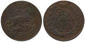 1 КОПЕЙКА 1766