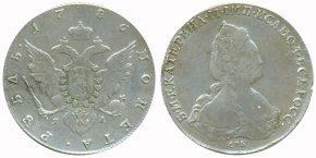 1 РУБЛЬ 1786