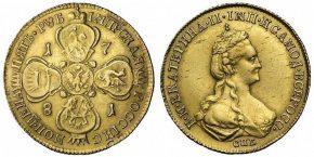 5 РУБЛЕЙ 1781
