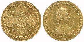 5 РУБЛЕЙ 1786